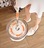 888Warehouse 360° Microfiber Spin Magic Mop Spinning Rotating Head Easy Cleaning Floor Mop + 2 Mop Heads + Bucket Set, Easy Floor Cleaning System