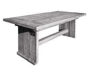 Strandgut07 Teakholz Tisch Esstisch recycelt finish, grau, ca. 180 x 90 cm