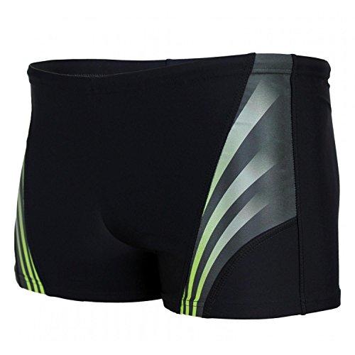 Aquarti Herren Kurze Badehose mit Streifen, Farbe: Schwarz/Grün, Größe: 5XL