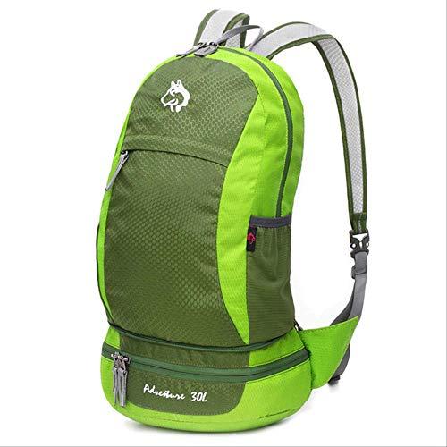 Generic Brands Sac à dos de voyage léger 40 l Pliable Sac à dos de camping ultraléger 30 - 40L Couleur verte.