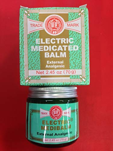 FEI FAH Electric Medibalm Net 2.45 oz (70g) Ointments, Creams & Oils,Muscular Aches, Stiff Neck, Headaches, Toothaches, Colds, Stuffy Nose, Insect Bites, Bruises, Sores, Shoulder Sprains