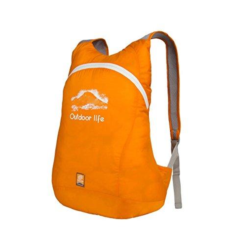 YSXY 15L Rucksack Tasche Sporttasche Gepäck Hülle Umhängetasche Daypack Bag Handyhalter Geldbeutel Faltbar wasserdicht für Damen Herren und Kindern für wandern, joggern,Bummeln,Klettern