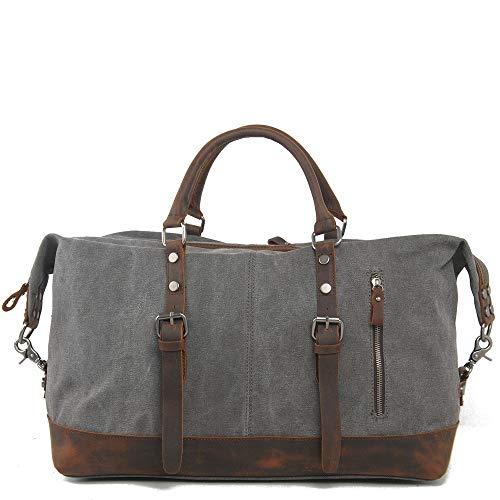 Z-GJM GroßE KapazitäT Herrenhand Reisetasche Canvas Seesack Diagonale Tasche Die Spannungspunkte Werden mit PositionierungsnäGeln VerstäRkt, um die Lebensdauer zu VerläNgern.