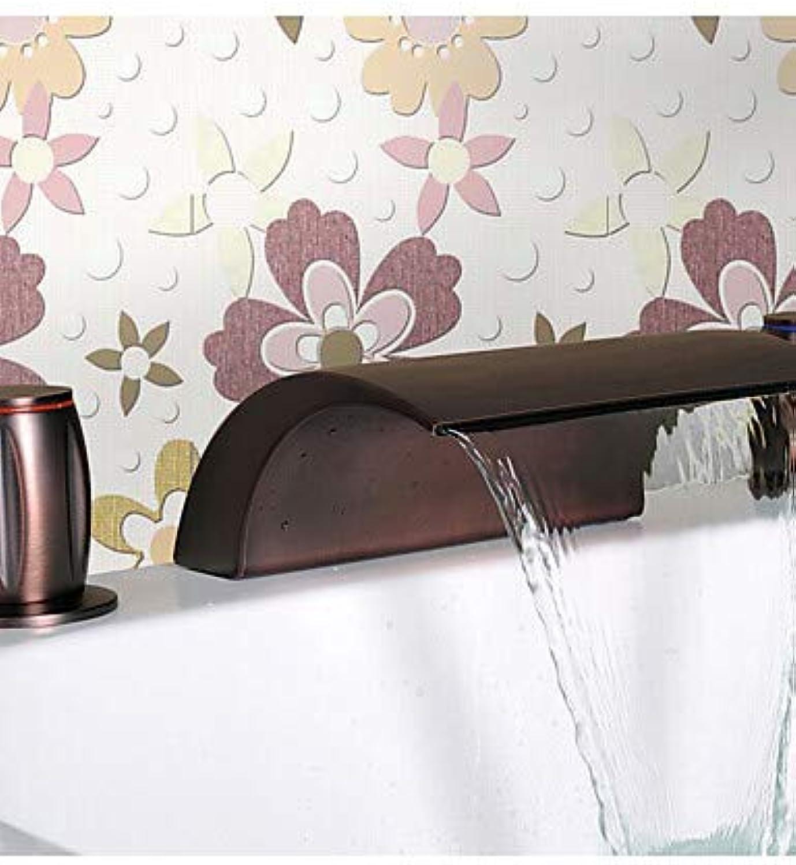 Mainstream home LPZSQ Tippen Sie auf l eingerieben Bronze Wasserfall Waschbecken Wasserhahn  589