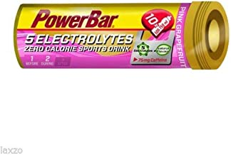 Laxzo Powerbar 5 Electrolytes Energy Sports Drink Tablets 10 Tab Cycling Pink Grapefruit Estimated Price : £ 9,29