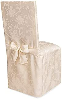 Best ivory damask chair covers Reviews