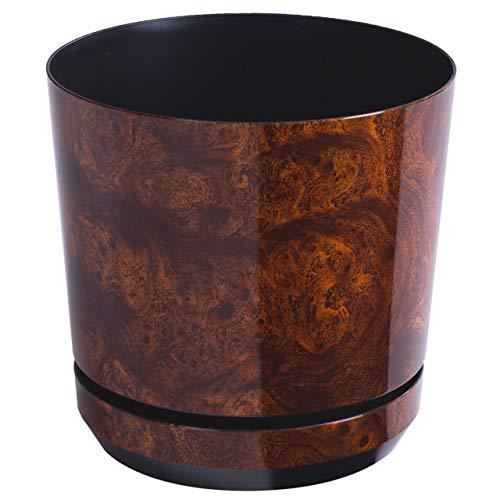 KORAD Blumentopf/Übertopf Holz 26 cm - Pflanzkübel aus Hochwertiger Kunststoff - Dekorativer Topf für Pflanzen