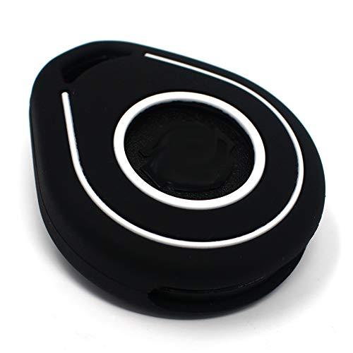 Hab Coque de clé pour clé de moto en silicone Keyless Go noir/blanc