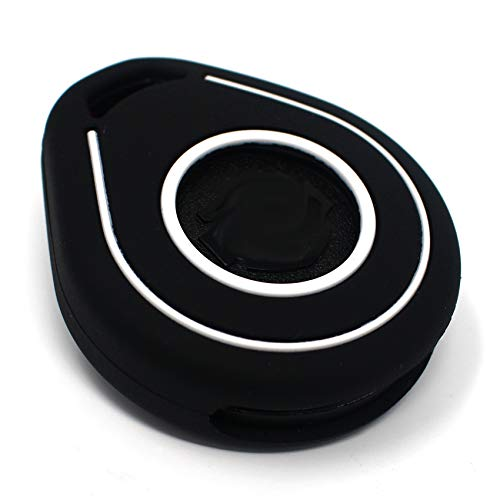 Funda para Llave de Moto HAB de Silicona, Keyless Go (Negro Blanco)