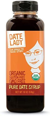 Award Winning Date Lady Organic Date Syrup 18 Ounce Squeeze Bottle Vegan Paleo Gluten free Kosher product image
