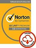 Norton Security | Premium | 10 Dispositivo | 1 Año | PC/Mac | Código de activación enviado por...