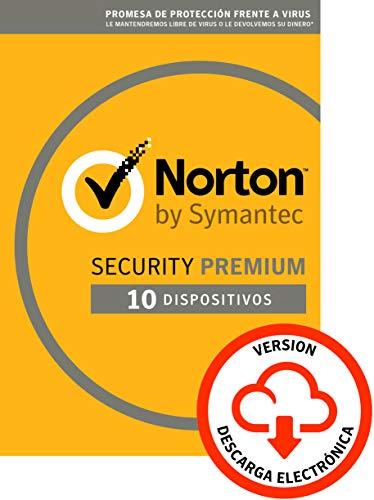 Norton Security | Premium | 10 Dispositivo | 1 Año | PC/Mac | Código de activación enviado por email