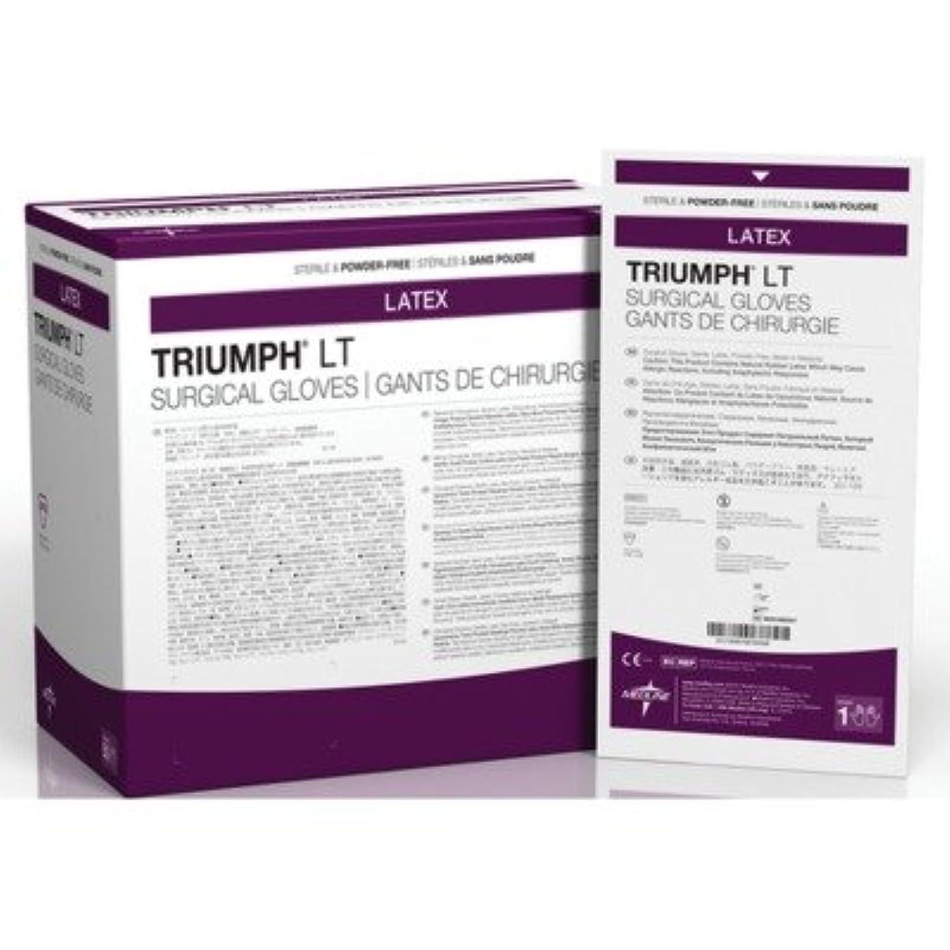 アクロバット記者たっぷりMedline MDS108065LT Triumph LT Sterile Powder-Free Latex Surgical Glove, Size 6.5, White (Pack of 200) by Medline