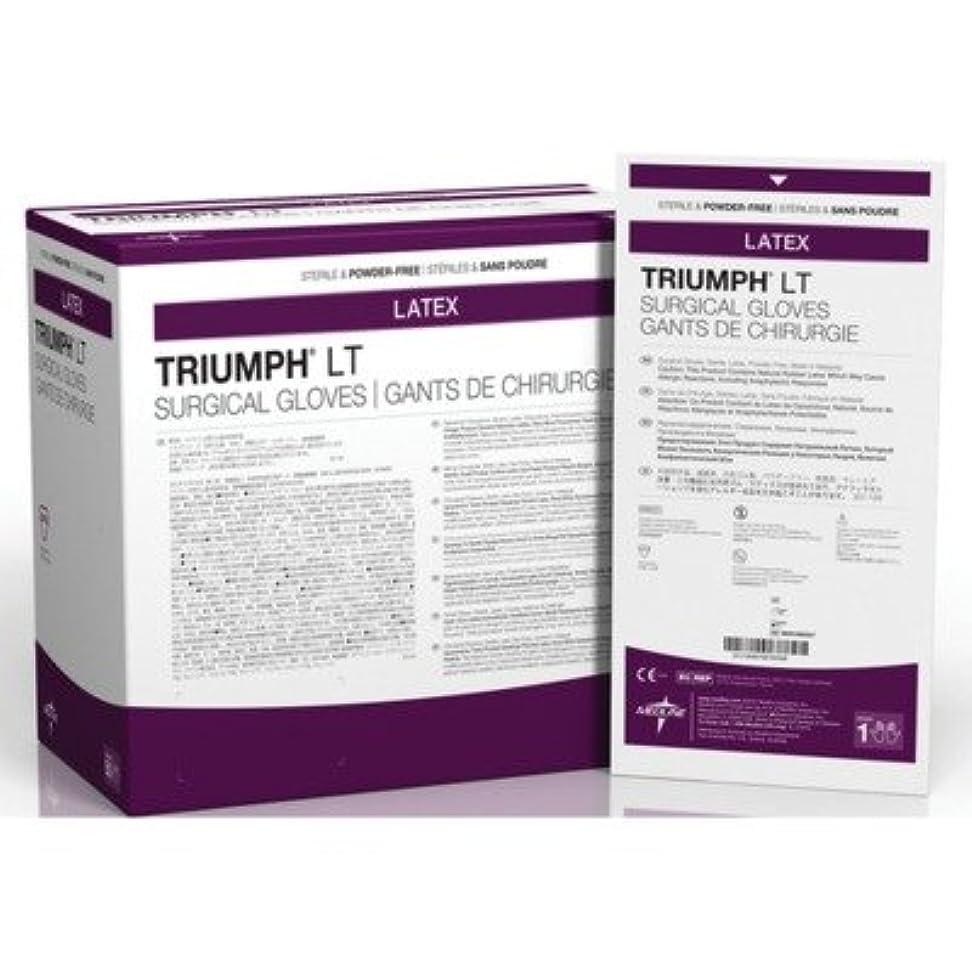 イタリアの民間バイアスMedline MDS108090LT Triumph LT Sterile Powder-Free Latex Surgical Glove, Size 9, White (Pack of 200) by Medline