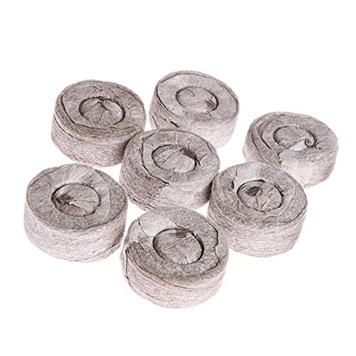 Xiangyin 100 Count- 30 MM Torf Pellet Faser Boden Pflanzensamen Starter, Jiffy Torf Boden Pellets Samen Startstopfen, Indoor Samen Starter zum Umpflanzen in Garten oder Pflanzgefäß