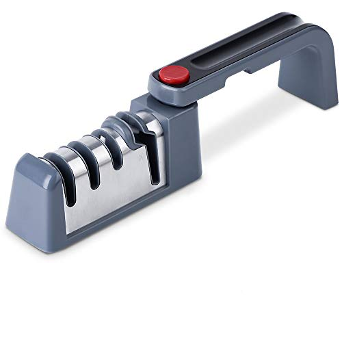 CONVEY Afilador de cuchillos manual plegable, afilador de cuchillos profesional, Cuchillo de...