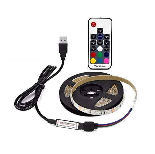 Haude Tira de luz LED USB 28355V Flexible LED Lámpara Cinta Cinta Cinta RGB TV Pantalla de Escritorio Cinta Retroiluminación 8mm Ancho -3Meter
