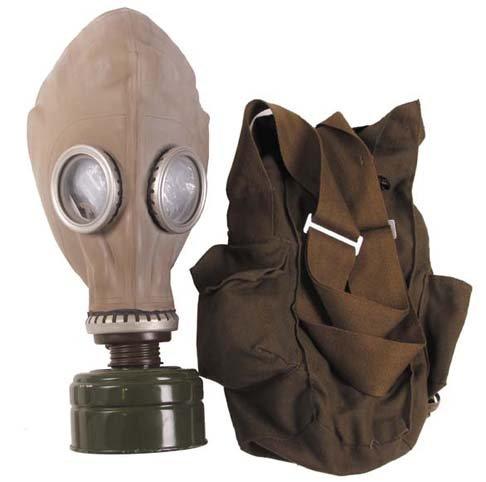 NVA Schutzmaske, mit Filter und Tasche