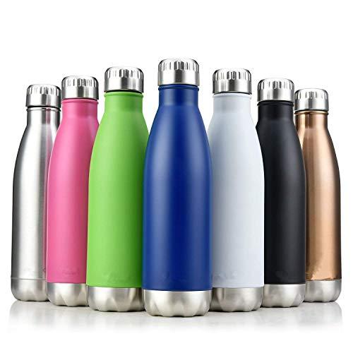 iSporter Sport-Wasserflasche aus Edelstahl, vakuumisoliert, doppelwandig, auslaufsicher, 12 Stunden heiß und 24 Stunden kalt 750ML