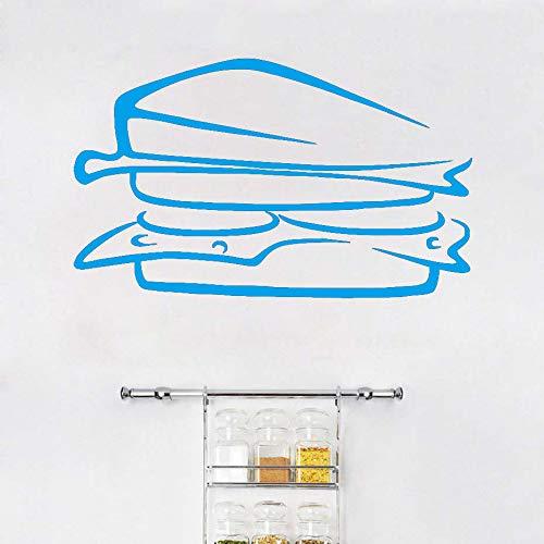 Delicious Sandwich Food Vinilo Estilo europeo Extraíble Pegatinas de pared Diy Decoración para el hogar Impermeable Pvc Cocina Arte de la pared Mural ~ 1 71 * 43cm