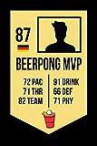 Beerpong MVP: Bierpong Buch Partybuch - Nutzung als Notizbuch, Tagebuch, Malbuch, Skizzenbuch etc.   120 Seiten blankes Papier   A5-Format   Abwischbares hochglanz Cover