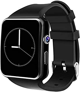 BACKET Multi Functional X6 Android Smart Watch Bluetooth Smartwatch, Camera SIM Card, for Man, Woman, Boys, Girls and Comp...