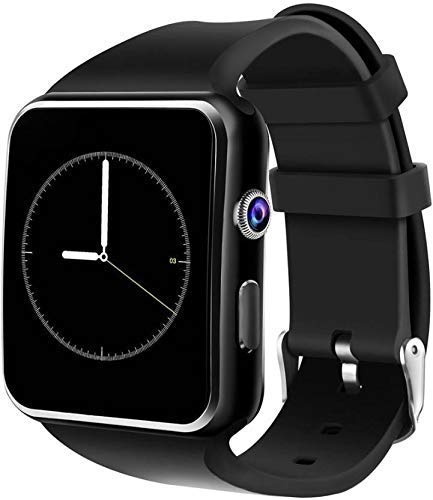 KEMIPRO Smart Watch A1 Bluetooth Smartwatch, Android Smartwatch with Camera/SIM Card Slot Sports Watch Compatible with All Mobile Phones for Boys and Girls (A1 Black)