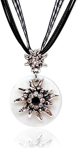 Fashion Crystal Flower Necklace Pendant Natural Shell Necklace Rope Chain Edelweiss Necklace Collar Necklace Jewelry