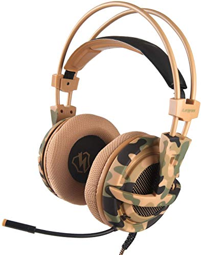 Letton Gaming Headset Bass Surround Stereo Sound Headphones for PS4 Xbox one PC MAC with Noise Cancelling mic Volume Control Computer Headsets