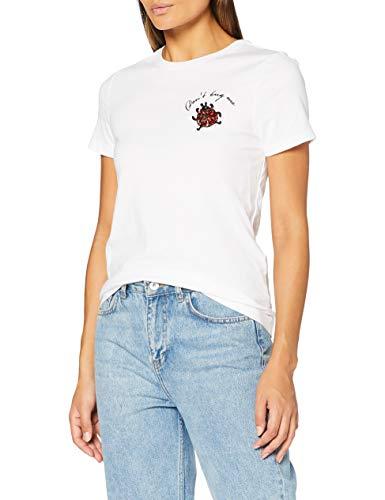 ONLY Damen ONLKIKI Life REG S/S Ladybug TOP Box JRS Bluse, Bright White, XS