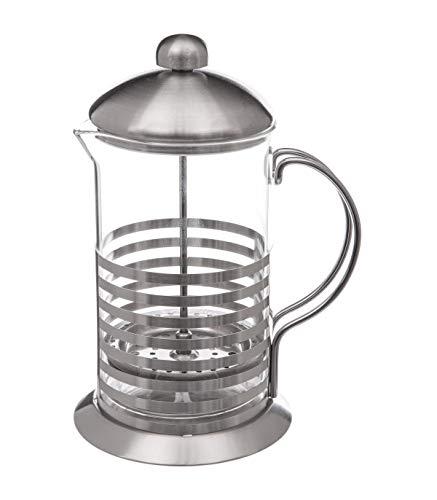 Cafetera de pistón de cristal y acero inoxidable para 8 tazas – 0,8 L