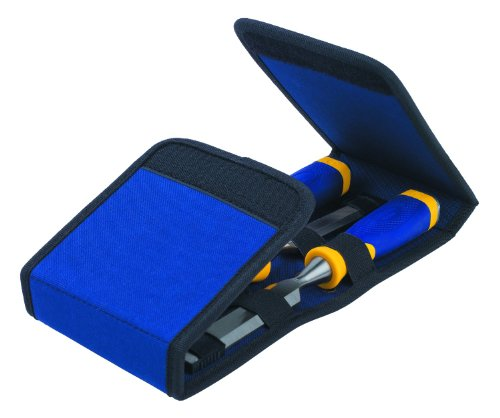 IRWIN Marples Chisel Set with Wallet, 3-Piece (1768781) , Blue