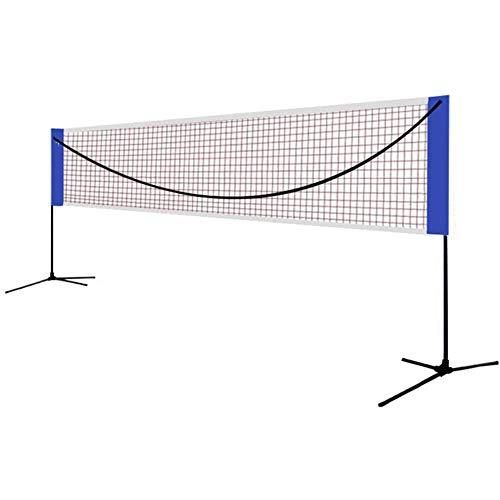Red Combinada Multideportiva Roll A Net Plegable para Tenis O Bádminton, Red De Tenis Portátil, Red Combinada Deportiva De Fácil Instalación con Bolsa De Transporte Duradera