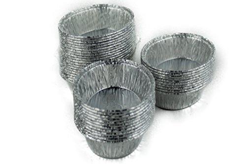ScanCup Aluförmchen, 40 Stück, oval, 60x45x20mm, silber