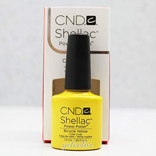 Generic HOT Sale CND Shellac UV LED Gel Nail Polish Base Top Coat 7.3ml 0.25oz Discount Bicycle Yellow 90513