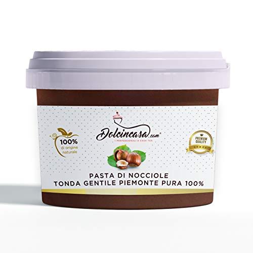 Pasta di Nocciole Piemonte IGP Nocciola Tonda Gentile delle Langhe Pura al 100% per Gelati, Ganache, Creme, Panna e altri usi in Pasticceria. 500g