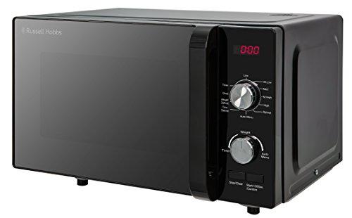 Russell Hobbs RHFM2001B Flatbed Microwave, 19 Litre, Black