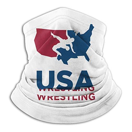 Halstuch/Kopftuch USA Wrestling Balaclava Bandanas Boys and Girls Free UV Graphics Neck Gaiter Warmer Polyester Anti-dust Printed Hairband Headwear Black