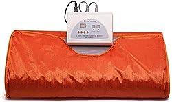 S SMAUTOP Infrared FIR Digital Heat Sauna Blanket, Body Shape Slimming Fitness Sauna Blanket for Home Use with Controller Box (Orange)