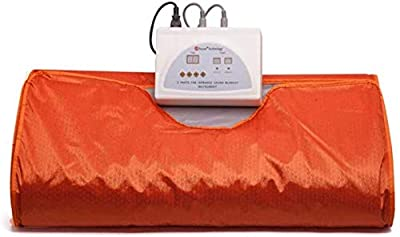 INLOVEARTS Far-Infrared Sauna Blanket, 2 Zone Weight Loss Perspiration Sauna Blanket, Professional Detox Therapy Anti Ageing Beauty Machine