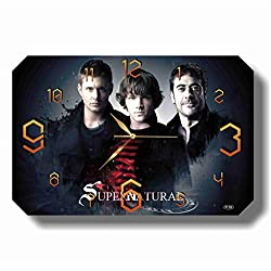 Art time production Supernatural 17'' x 11'' Handmade Unique Wall Clock - Get Unique décor for Home or Office – Best Gift Ideas for Kids, Friends, Parents