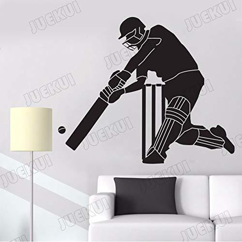 jiushivr Jugador de béisbol clásico patrón Etiqueta de la Pared para niños Dormitorio decoración de Arte para el hogar calcomanías de Vinilo Club Pegatinas 66x57 cm
