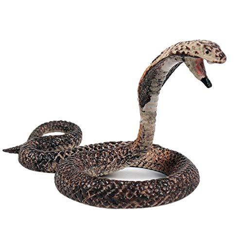 CLISPEED Figuras de Serpientes Simuladas Modelo de Cobra Realista Pitón Falso Cobra Real de Plástico para La Colección Accesorios Educativos Vida Silvestre Juguete Mordaza de Animales