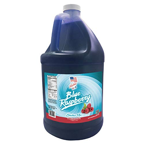 Blue Raspberry Slushie Mix -1 Gallon - 128 oz (yields approximately 96-12oz servings) Mixing Ratio 7 (Water) to 1 (Product Mix)
