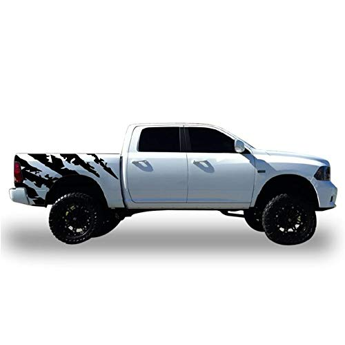 Bubbles Designs Decal Sticker Vinyl Off Road Bed Splash Style 1 Compatible with Dodge Ram 2011-2018