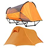 WintMing Camping Cots Tent with Rainfly and Nets Outdoor Folding Sleeping Bed...