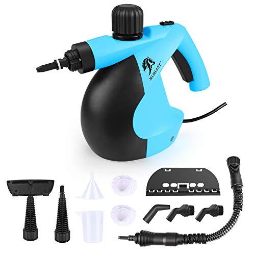 MLMLANT 350ml dampfreiniger Mehrzweck Handdruckdampfreiniger mit 11-teiligem Zubehör für Fleckenentfernung, Teppiche, Vorhänge, Bettwanzensteuerung, Autositze MEHRWEG
