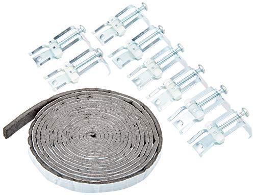 Sanitop-Wingenroth 223386Set di fissaggio da incasso in acciaio inox per lavello, 8mollette per lavandino, nastro sigillante, per il montaggio, cromato