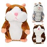 Sprechender Hamster Plüsch Spielzeug Wiederholt was Sie Sagen Mimikry Haustier Elektronische Sprechende Aufzeichnung Stofftier Adorable Interaktives Spielzeug für Baby Kinder (C)