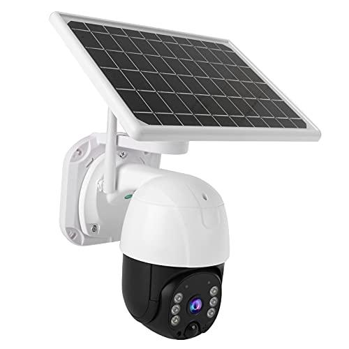 Telecamera di sicurezza Ptz, telecamera di sicurezza esterna 3Mp Hd 2.4Ghz Wifi con pannello solare per cantieri Periferie Ville Case per serbatoi Terreni agricoli Stagni di pesce